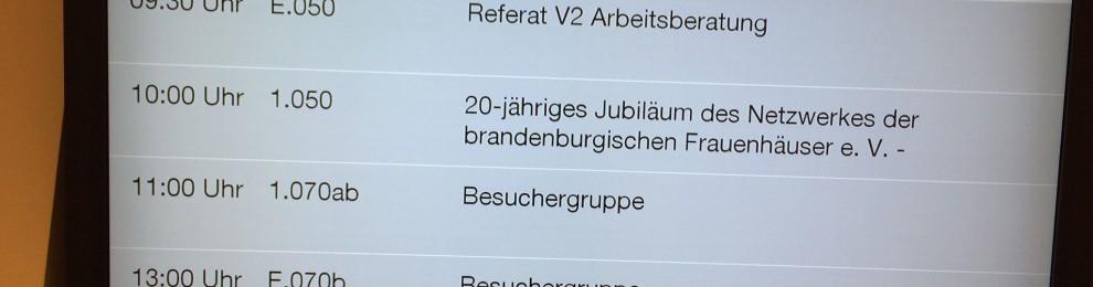 20 Jahre Netzwerk brandenburgischer Frauenhäuser